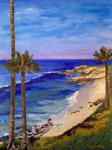 Monica List painting of Serene Beach