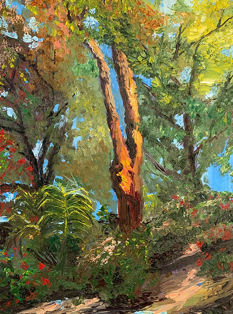 Monica List painting of Hillside Beauty