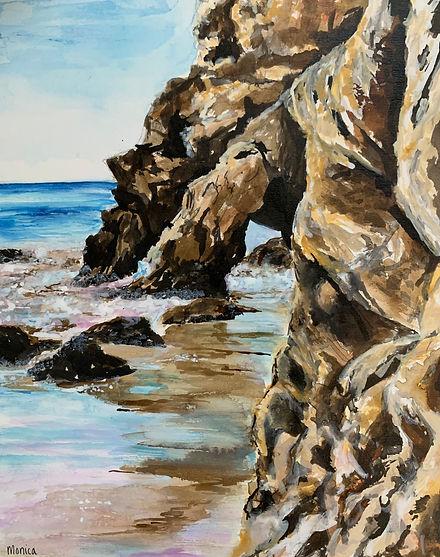 Monica List painting of El Matador Beach