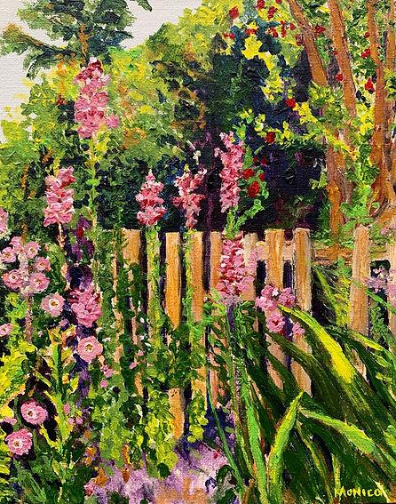 Monica List painting of Sunny Garden