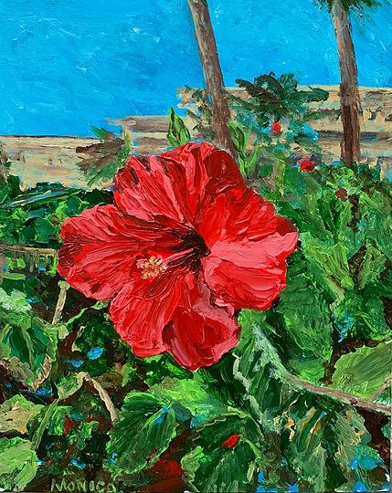 Monica List painting of Hawaiian Hibiscus