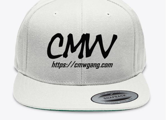 CMW Black Embroidered Snapback Cap