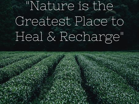 """""""Nature is the Greatest Place to Heal & Recharge"""""""