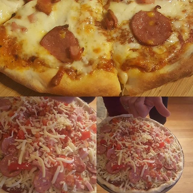 Home made _nlseasonings #pizza #moosespice _5broscheese #curds #thincrust