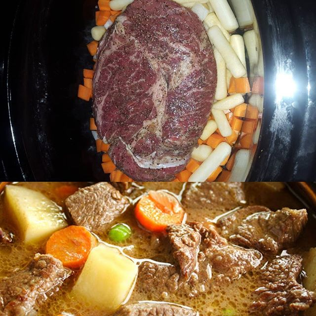 Blade roast #slowcooker #stew #localvegetables #savory #repost _#boldyetfriendly _nlseasonings