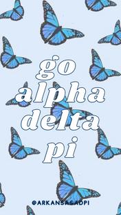 Blue Butterflies Go ADPi