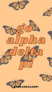 Orange Butterflies Go ADPi