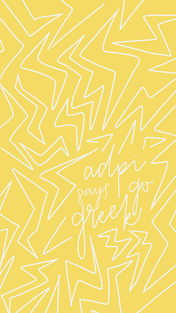Yellow Scribble Go Greek