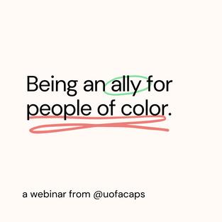 Being an Ally Webinar
