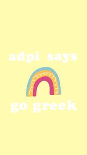 Yellow Rainbow Go Greek