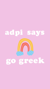 Pink Rainbow Go Greek