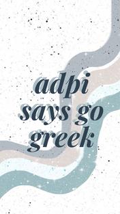 ADPi says Go Greek