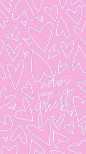 Pink Scribble Go Greek