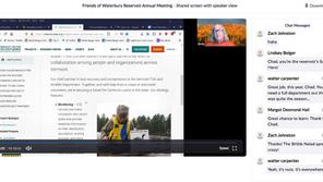 2020 Annual Friends of Waterbury Reservoir Meeting