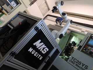 Carga y descarga de centros de mecanizado con robot colaborativo Elfin