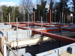Structural steel work being erected