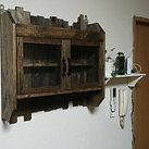 手作り 扉付き壁掛け収納・シェルフ