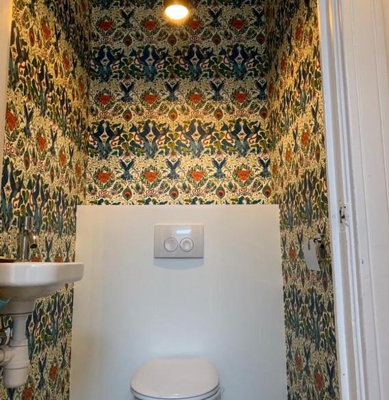 Behang wc