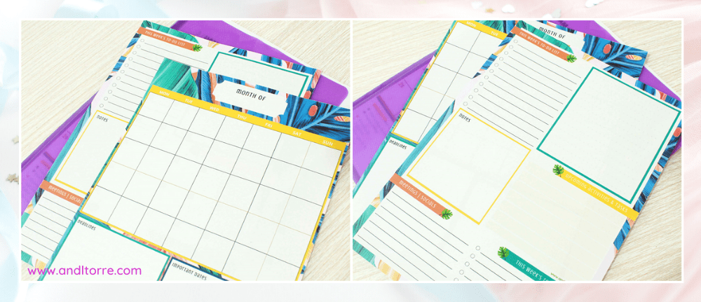Monthly planner printable, weekly planner printable, free download | A Lifestyle Blog by Andi | Philippines