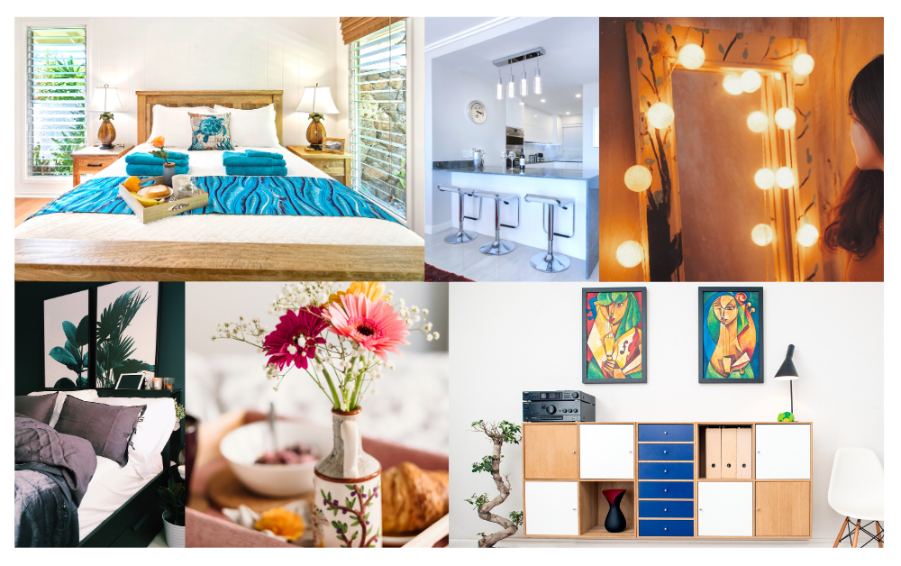Styling your Home for Summer | Photos of Home Decor, Furniture, Flowers, a Bedroom, and a Modern Kitchen