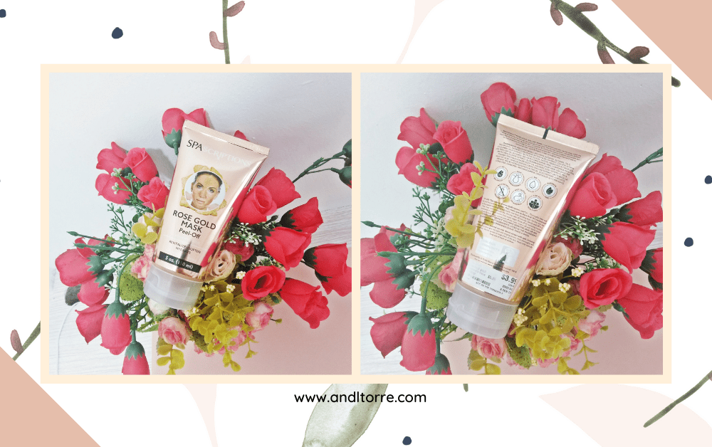 SpaScriptions Rose Gold Peel-Off Mask   Product Review   A Lifestyle Blog by Andi   Philippines