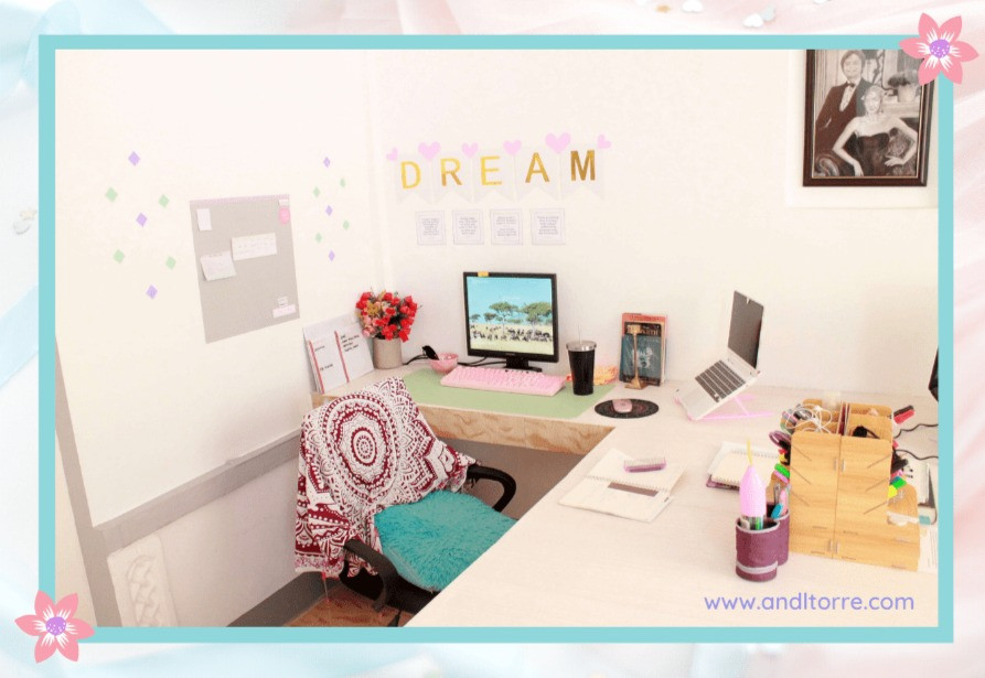 Desk setup | Work from home blog | Home office design ideas | A Lifestyle Blog by Andi | Philippines