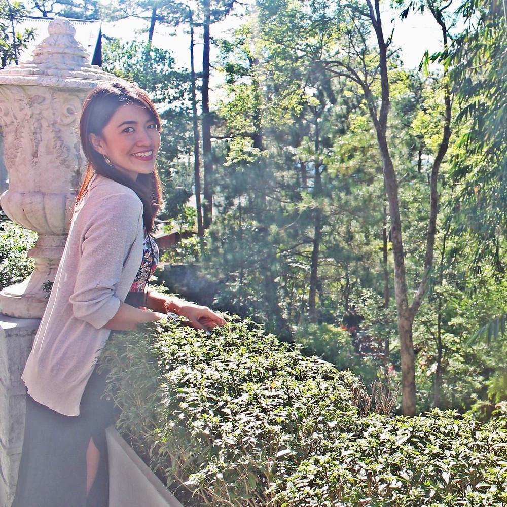 local musician indiegirlANDI posing for a photo at Kamiseta Hotel in Baguio City