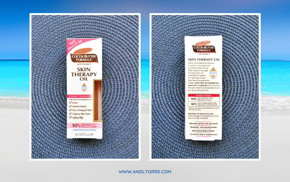 Palmer's Cocoa Butter Formula with Vitamin E   Skin therapy oil for scars and stretch marks   A Lifestyle Blog by Andi   Philippines
