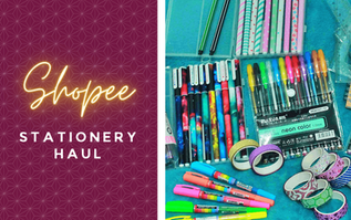 Shopee Stationery Haul