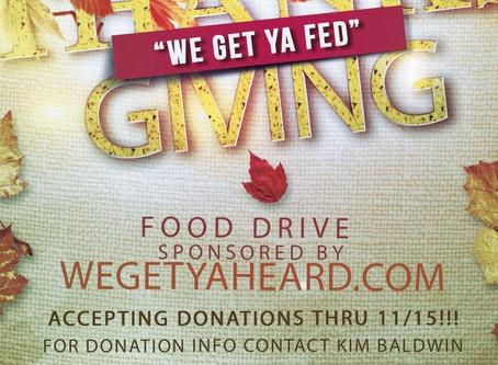 WeGetYaFed Indianapolis Thanksgiving Food drive