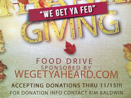 WeGetYaFed Indianapolis Thanksgiving Food drive