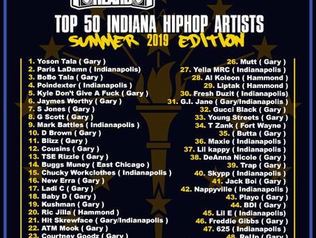 WeGetYaHeard / #WellConnected Top 50 Indiana Hiphop Artist  ( Summer 2019 Edition )