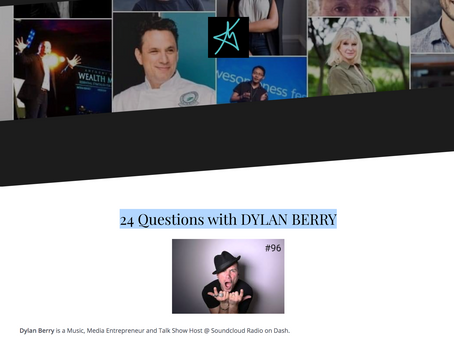 24 Questions with DYLAN BERRY