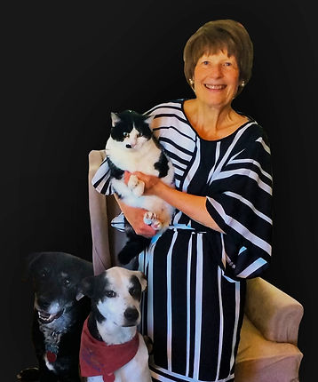 Rowe-Janet-Standing-Holding-Cat-Two-Dogs