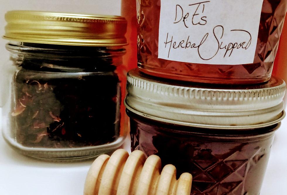 Hibiscus Infused Honey
