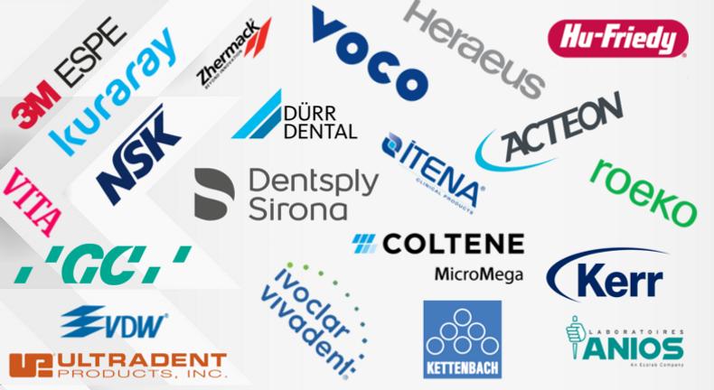 Un choix parmis les plus grandes marques du marché dentaire