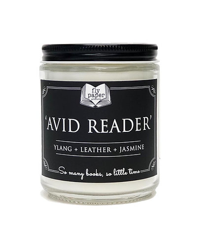 Avid Reader -9oz Glass Soy Candle