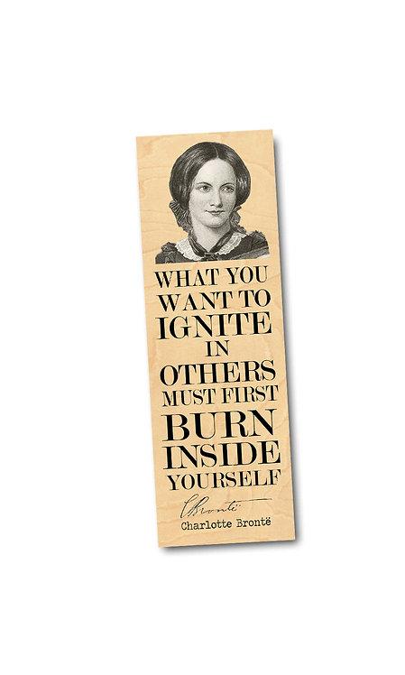 Charlotte Bronte Wooden Bookmark