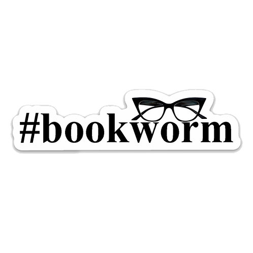 #bookworm -Vinyl Sticker