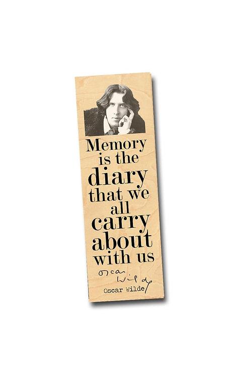 Oscar Wilde Wooden Bookmark
