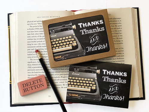 Thanks Thanks and Thanks! - Boxed Set of 8 Thank You Note Cards