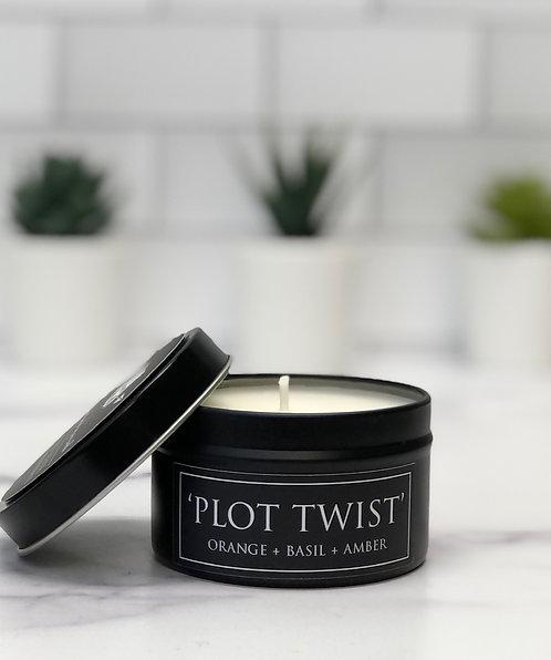 Plot Twist 6 oz Literary Tin Soy Candle (Qty 2 @ $7.00ea)