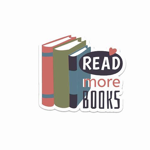 Read more books-Vinyl Sticker