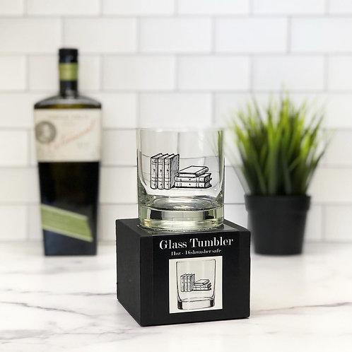 Stack of Books 11 oz Glass Tumbler