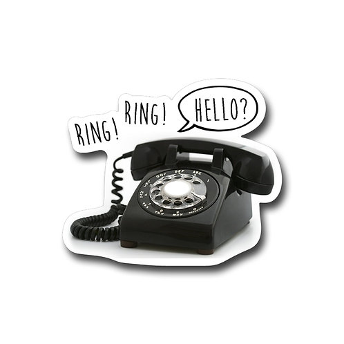 Hello? -Vinyl Sticker