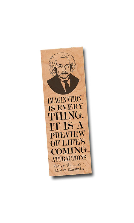 Albert Einstein- Wooden Bookmark
