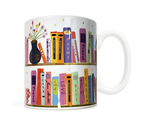 My Bookshelf- 11 ounce Ceramic Mug