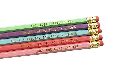 Book Lover Pencil Set