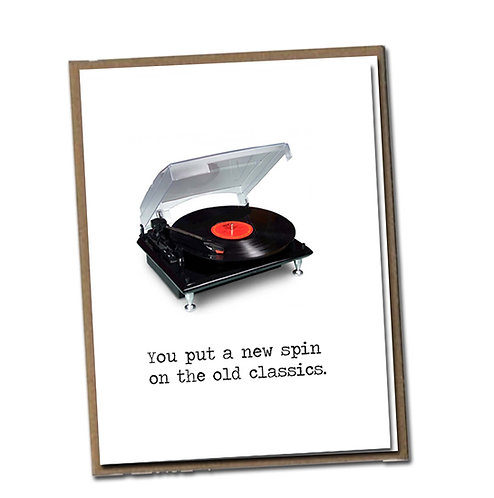 You put a new spin on the old classics. Linen Series - Birthday Card