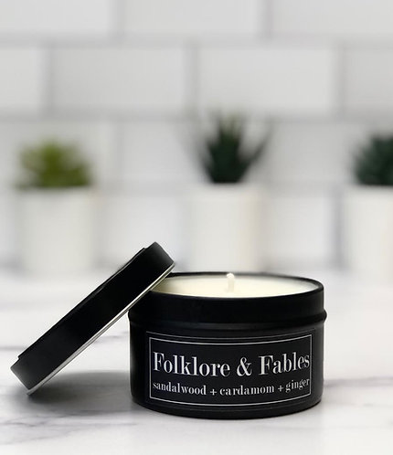 Folklore and Fables 6 oz Literary Tin Soy Candle (Qty 2 @ $7.00ea)